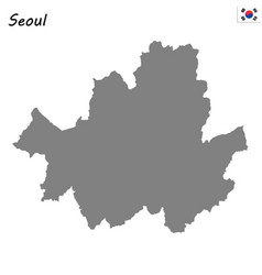 high quality map metropolitan city of south korea vector image
