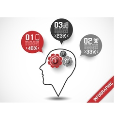 INFOGRAPHIC HEAD STYLE 3 vector image