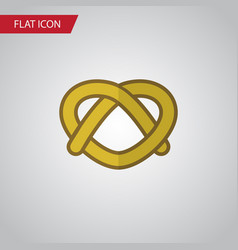 Isolated pretzel flat icon cookie element vector