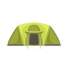 Large Green Bright Color Tarpaulin Tent vector image
