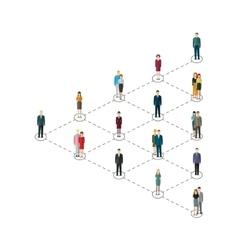 Leadership concept people follow leader vector