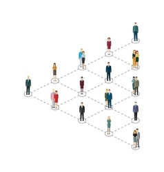 Leadership concept People follow the leader vector