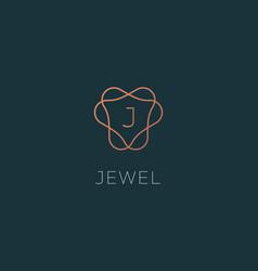 Letter j logo monogram minimal style identity vector
