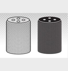 Medium smart home speaker with digital virtual vector