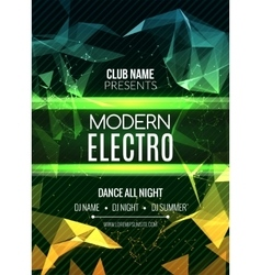 Modern Electro Music Party Template Dance Party vector