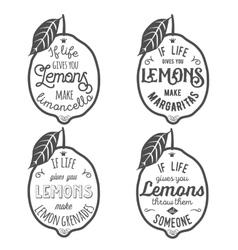 Motivation quote about lemons vector image