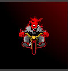 motorcycle club devil logo vector image