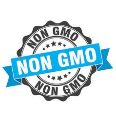 non gmo stamp sign seal vector image