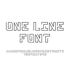 One line font vector