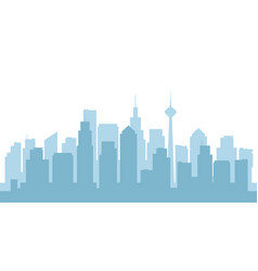 panorama of the city downtown with skyscrapers vector image