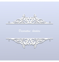 paper borders with lace ornament vector image