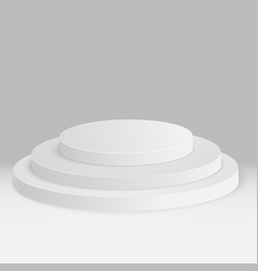 round stage podium pedestal isolated on white vector image