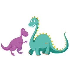 Sauropods big one and small one vector image