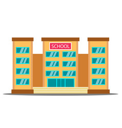 school building university house fasade vector image