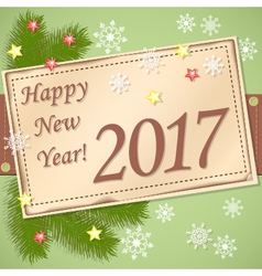 Scrapbooking card Happy New Year 2017 vector