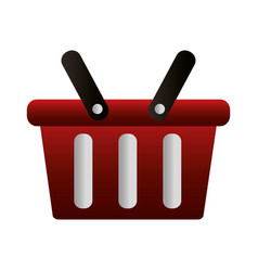 shopping online basket market commerce vector image