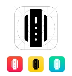 Smart watch back view icon vector