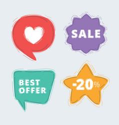 special offer labels set vector image