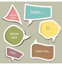 Speech bubble cut paper design template vector image
