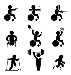 Sport paralympic games icons vector