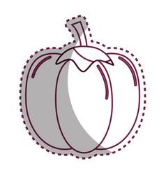 sticker silhouette health pepper vegetable icon vector image