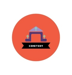 Stylish icon in color circle building cemetery vector