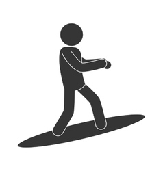 Sur surfing man vector