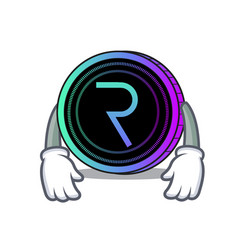 Tired request network coin mascot cartoon vector