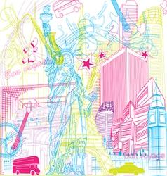 Tour city vector