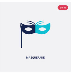 two color masquerade icon from entertainment and vector image