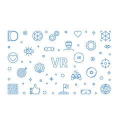 vr concept horizontal virtual vector image