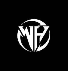 wh logo monogram design template vector image