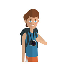 Young guy cartoon icon vector