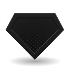 black superhero logo template vector image