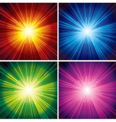 bursting background vector image