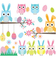 Easter Owl vector image