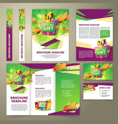 flyer for sales promotion brochure vector image