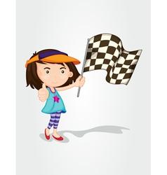 Racing girl vector image vector image