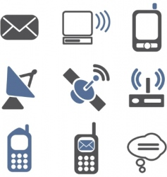 communication signs vector image