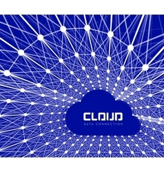 Creative cloud background vector image