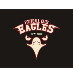 Eagle sport tee graphic stylish design for vector