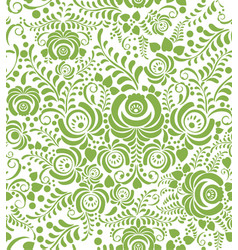 green spring floral seamless pattern background vector image