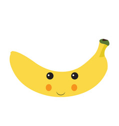 isolated happy banana vector image