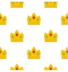 queen crown pattern flat vector image