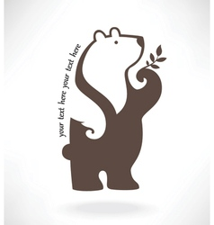 standing bear in symbol style vector image vector image