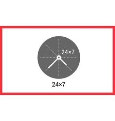 Around clock linear pictogram vector image