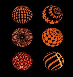 Spheres Circle Planet Icon vector image vector image