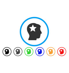 star head rounded icon vector image