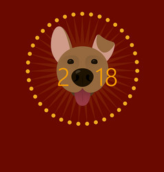 2018 happy new year greeting card poster vector image