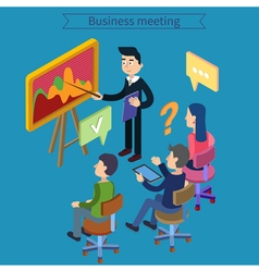 Business Meeting Team Working Man with Tablet vector image